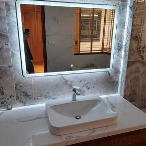 Gương đèn led phòng tắm